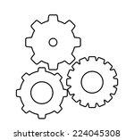 gears design over white... | Shutterstock .eps vector #224045308
