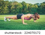 beautiful young woman... | Shutterstock . vector #224070172