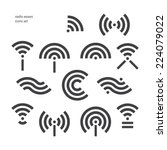 set of different wireless and... | Shutterstock .eps vector #224079022