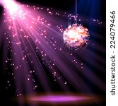 disco ball background with...   Shutterstock .eps vector #224079466