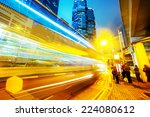 Traffic Light Trails Of Modern...