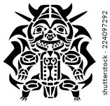 cheerful samurai | Shutterstock . vector #224097292