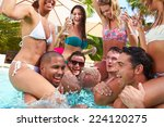 group of friends having party... | Shutterstock . vector #224120275
