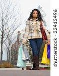an attractive girl out shopping ... | Shutterstock . vector #22413496