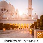 abu dhabi sheikh zayed white... | Shutterstock . vector #224136415