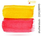 watercolor yellow and red... | Shutterstock .eps vector #224138995
