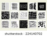 set of 15 creative cards. hand... | Shutterstock .eps vector #224140702