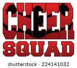 cheer squad with cheerleader is ... | Shutterstock .eps vector #224141032