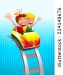 roller coaster game for kids... | Shutterstock .eps vector #224148676