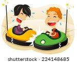 Two Boys Driving Bumper Car Fu...