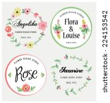 flowers design  vector elements.... | Shutterstock .eps vector #224153542