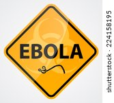 ebola bio hazard sign | Shutterstock .eps vector #224158195