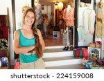 portrait of female clothing... | Shutterstock . vector #224159008