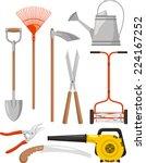 gardening equipment vector...   Shutterstock .eps vector #224167252