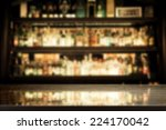 Stock photo black background of bar and desk of free space for you glass 224170042