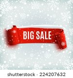 winter sale background with red ... | Shutterstock .eps vector #224207632
