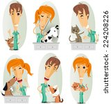 veterinary surgeon ... | Shutterstock .eps vector #224208226