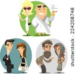 social classes cartoon... | Shutterstock .eps vector #224208748