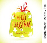 vector cute sketch doodle merry ... | Shutterstock .eps vector #224217748
