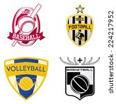 a set of sport emblems on a... | Shutterstock .eps vector #224217952