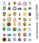 a set of sport emblems on a... | Shutterstock .eps vector #224217985
