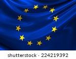 flag of europe.   Shutterstock . vector #224219392