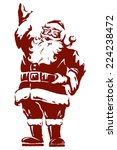 vintage style father christmas  ... | Shutterstock .eps vector #224238472