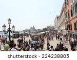 venice  june 4 2014  people... | Shutterstock . vector #224238805