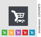 vector cart icon in flat style...