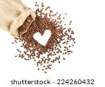 coffee beans in coffee bag made ... | Shutterstock . vector #224260432