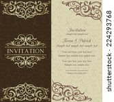 baroque invitation card in old... | Shutterstock .eps vector #224293768