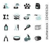icons set   pet  cat   dog... | Shutterstock .eps vector #224301262