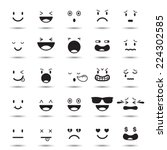 faces elements  emotion | Shutterstock .eps vector #224302585