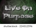 live on purpose concept text on ... | Shutterstock . vector #224312596