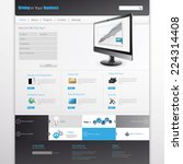 clean modern website template | Shutterstock .eps vector #224314408
