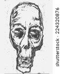 skull. monotype style. vector... | Shutterstock .eps vector #224320876