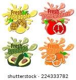 splash fruit | Shutterstock .eps vector #224333782