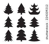 christmas trees   Shutterstock .eps vector #224339212