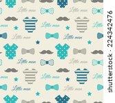 little man seamless pattern.... | Shutterstock .eps vector #224342476