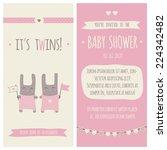 baby shower invitation ... | Shutterstock .eps vector #224342482