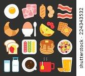 food icons  breakfast | Shutterstock .eps vector #224343532
