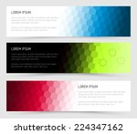 simple colorful horizontal... | Shutterstock .eps vector #224347162