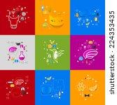 veterinary sticker infographic | Shutterstock .eps vector #224353435