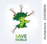 go green concept. save world... | Shutterstock .eps vector #224358046