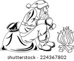 illustration of santa claus... | Shutterstock .eps vector #224367802