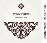 vector vintage pattern in... | Shutterstock .eps vector #224374732