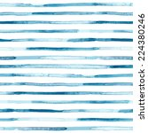 watercolor blue stripes.... | Shutterstock .eps vector #224380246