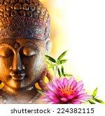 Statue Buddha Zen With Water...