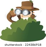detective private investigator... | Shutterstock .eps vector #224386918