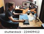 freelance developer or designer ... | Shutterstock . vector #224409412